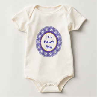 Dutch Blue on White Lace with Photos and Messages Baby Bodysuit