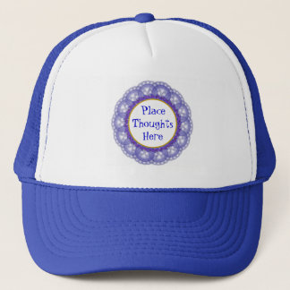 Dutch Blue on White Lace with Photos and Messages Trucker Hat