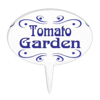 Dutch Blue Tomato Garden Plastic Sign Cake Topper