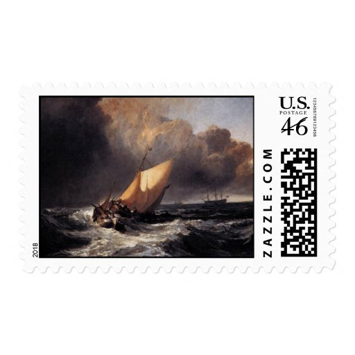 Dutch Boats in a Gale Postage Stamp