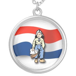 Dutch Boy Round Pendant Necklace