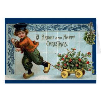 Dutch Boy Vintage Christmas Card