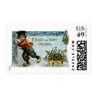 Dutch Boy Vintage Christmas Stamp