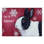 Dutch Bunny Christmas Card