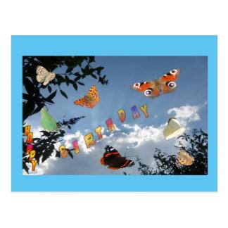 Dutch Butterflies Cust. Frame Birthday Postcard