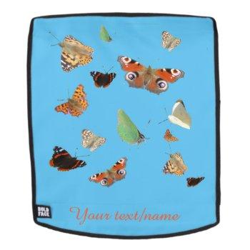 Dutch Butterflies Customizable Backback Face Backpack by Edelhertdesigntravel at Zazzle