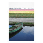 Dutch canals and bulbfields personalized stationery