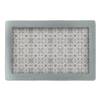 Dutch Ceramic Tiles 2 Belt Buckles