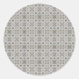 Dutch Ceramic Tiles 2 Classic Round Sticker