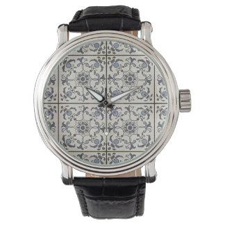 Dutch Ceramic Tiles 2 Large Watches
