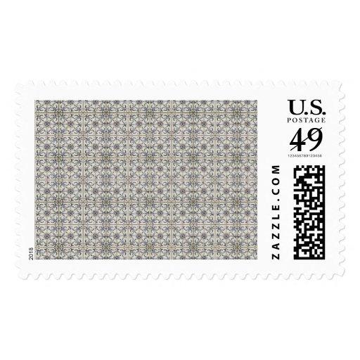 Dutch Ceramic Tiles 2 Postage Stamps