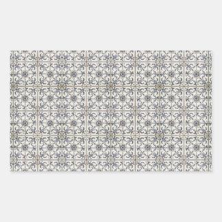 Dutch Ceramic Tiles 2 Rectangular Sticker
