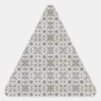 Dutch Ceramic Tiles 2 Triangle Stickers