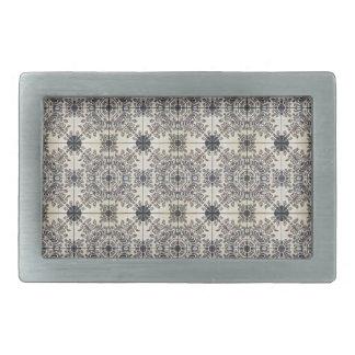 Dutch Ceramic Tiles 3 Belt Buckles