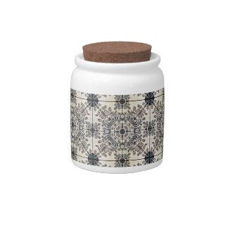 Dutch Ceramic Tiles 3 Candy Jars