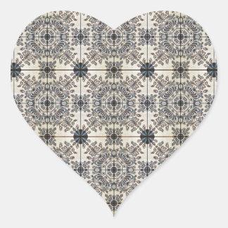 Dutch Ceramic Tiles 3 Heart Sticker