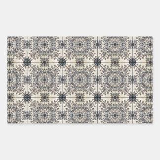 Dutch Ceramic Tiles 3 Rectangular Sticker
