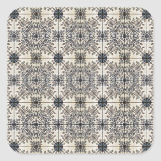Dutch Ceramic Tiles 3 Square Sticker