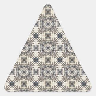 Dutch Ceramic Tiles 3 Triangle Sticker