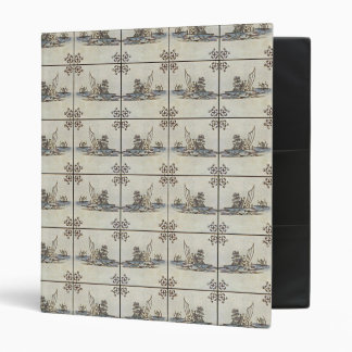 Dutch Ceramic Tiles 4 Alternate 3 Ring Binder