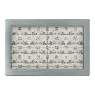 Dutch Ceramic Tiles 4 Belt Buckle