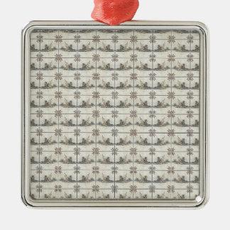 Dutch Ceramic Tiles 4 Metal Ornament