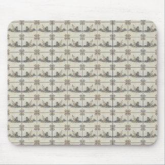 Dutch Ceramic Tiles 4 Mouse Pad
