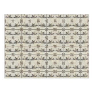 Dutch Ceramic Tiles 4 Postcard