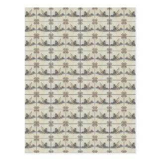 Dutch Ceramic Tiles 4 Postcards
