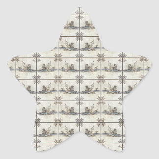 Dutch Ceramic Tiles 4 Star Sticker
