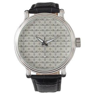 Dutch Ceramic Tiles 4 Wristwatch