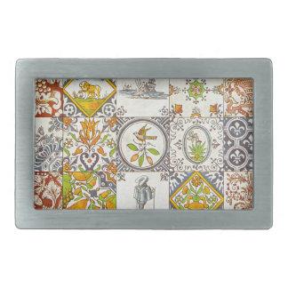 Dutch Ceramic Tiles Belt Buckles
