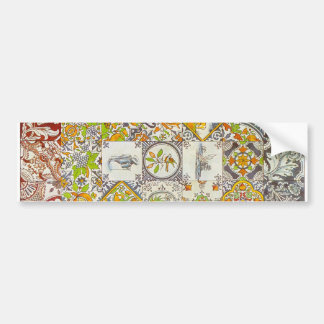 Dutch Ceramic Tiles Bumper Sticker