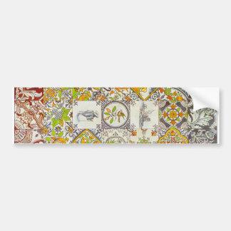 Dutch Ceramic Tiles Bumper Sticker