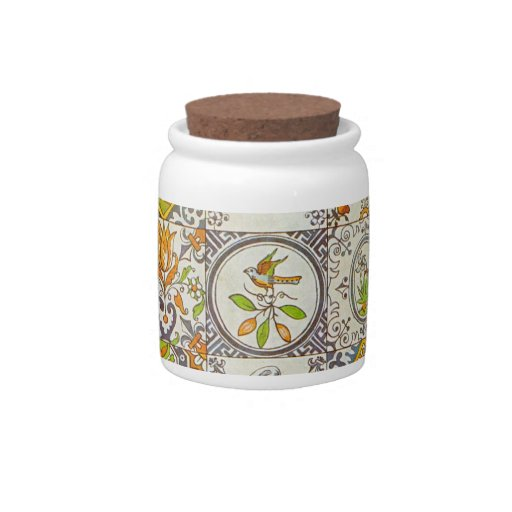 Dutch Ceramic Tiles Candy Jar
