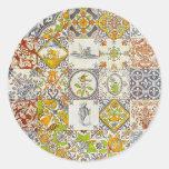 Dutch Ceramic Tiles Classic Round Sticker