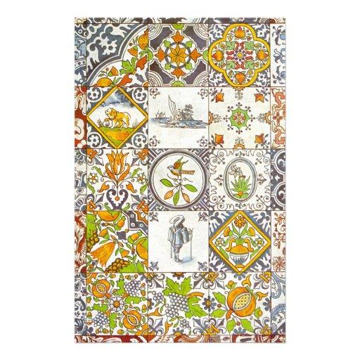 Dutch Ceramic Tiles Custom Stationery