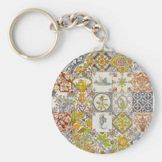 Dutch Ceramic Tiles Keychain