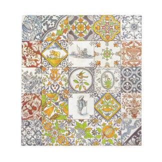 Dutch Ceramic Tiles Memo Notepads