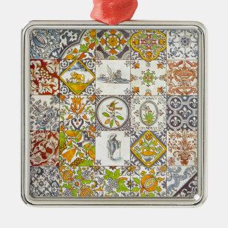 Dutch Ceramic Tiles Metal Ornament