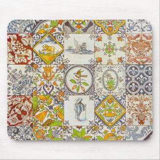 Dutch Ceramic Tiles Mousepad