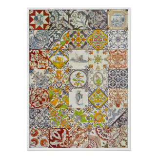 Dutch Ceramic Tiles Poster