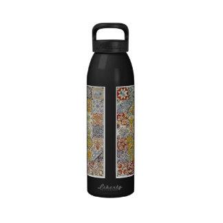 Dutch Ceramic Tiles Reusable Water Bottles
