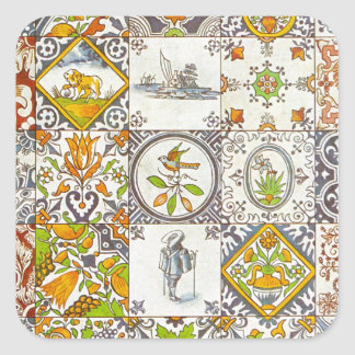 Dutch Ceramic Tiles Square Sticker