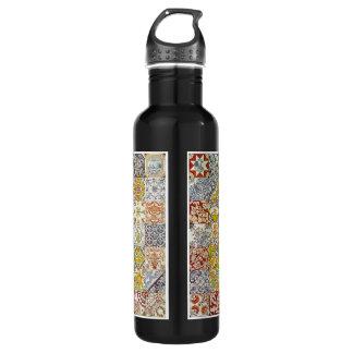 Dutch Ceramic Tiles Stainless Steel Water Bottle