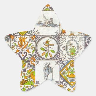 Dutch Ceramic Tiles Star Sticker
