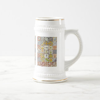 Dutch Ceramic Tiles Stein Coffee Mugs