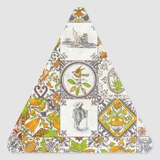 Dutch Ceramic Tiles Triangle Sticker
