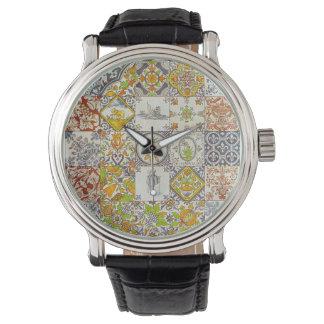 Dutch Ceramic Tiles Wristwatch
