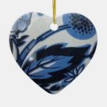 dutch ceramics heart christmas ornaments